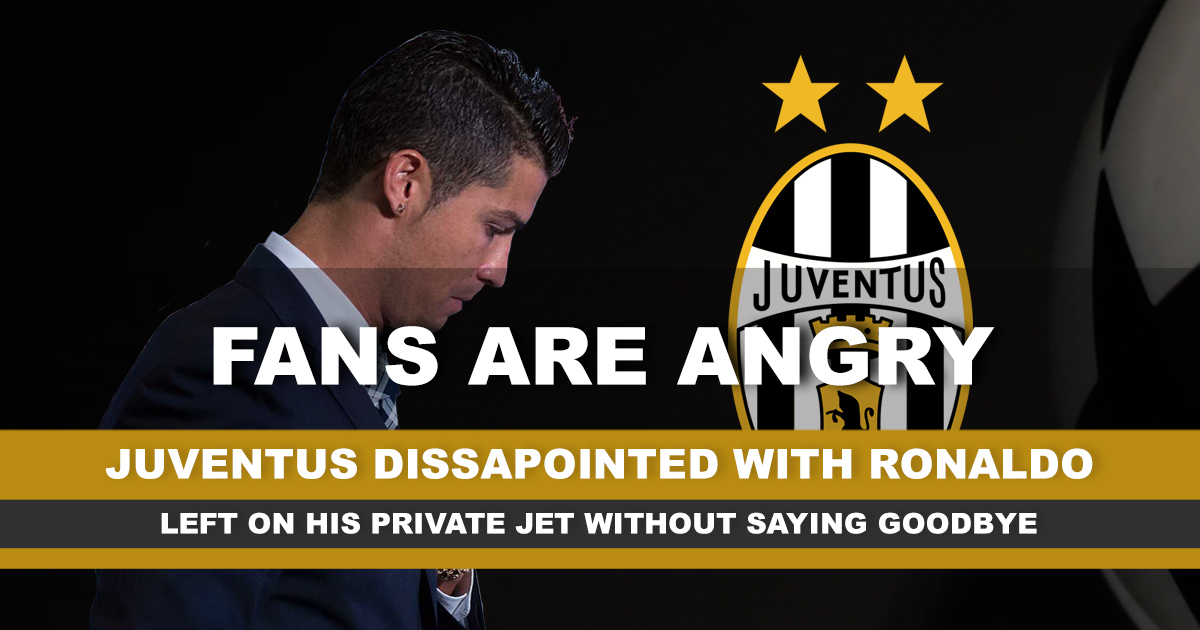 Juventus fans are angry with CR7