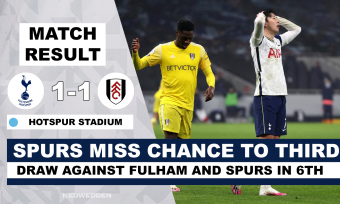 Spurs miss chance on third after draw against Fulham