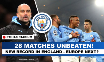 Man City New record in PL- 21 consecutive wins, unbeaten for 28.