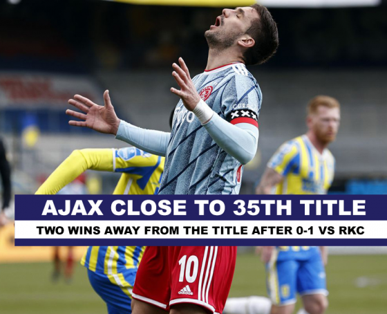 Ajax 2 wins from 35th title in Eredivisie