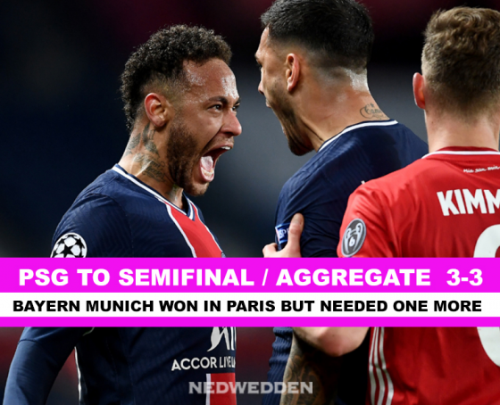 CHAMPIONS LEAGUE: PSG TO SEMIFINAL