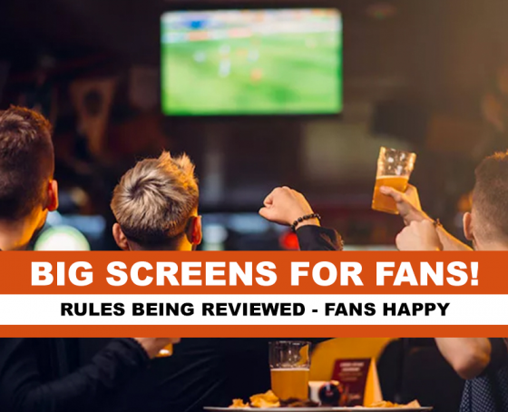 Big Screens might be allowed! EURO2020