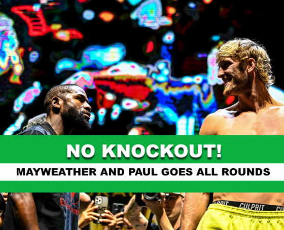 No knockout for Mayweather