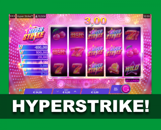 Hyperstrike Slot - Now on Toto